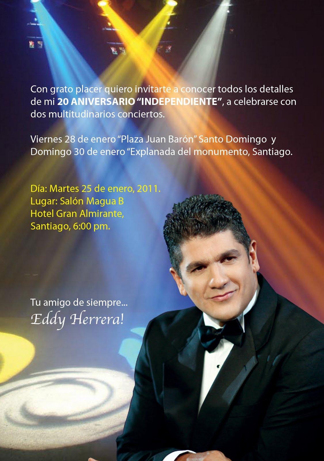 Altitaje eddy herrera se reune hoy martes con la prensa for Concierto hoy en santiago