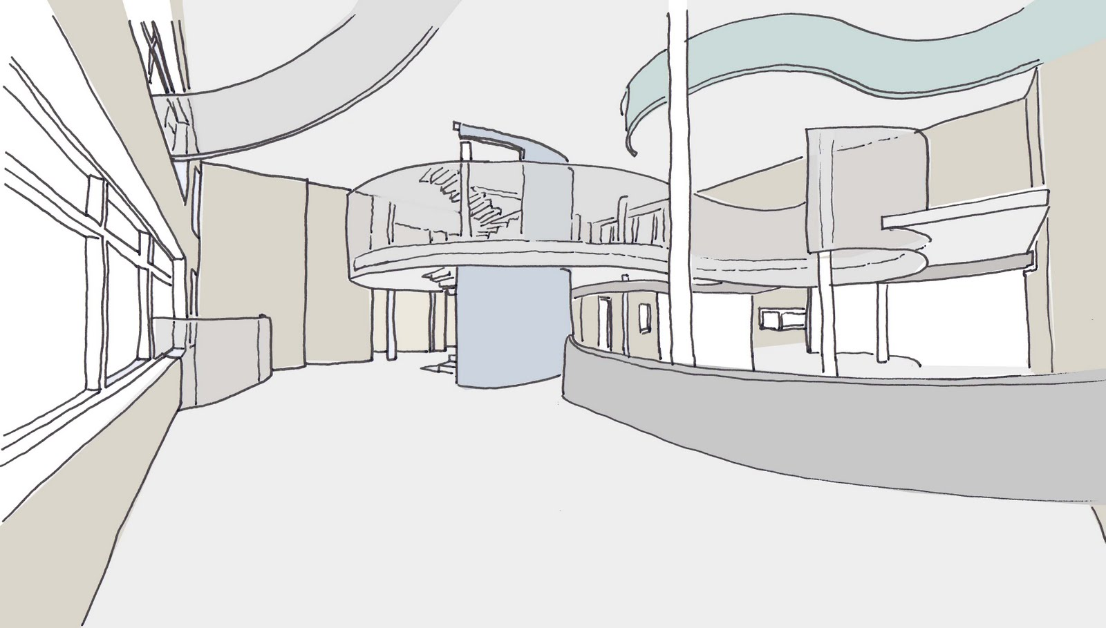 Interior Sketch Of The First Floor Of Create