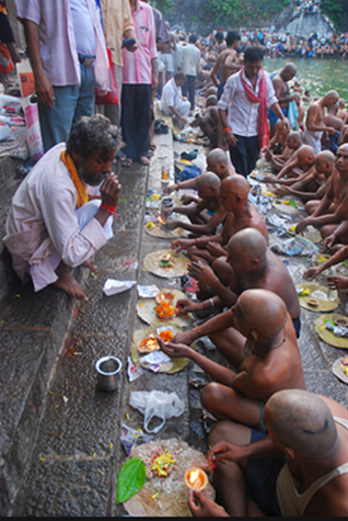 Hindus pay homage to their ancestors 23