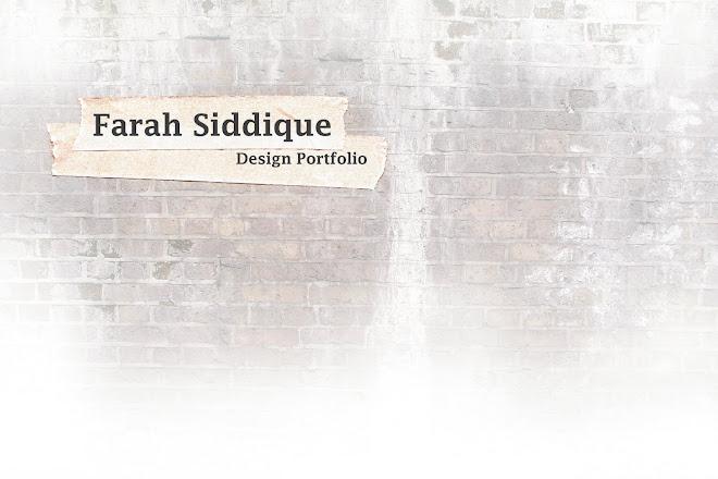 Farah Siddique design portfolio
