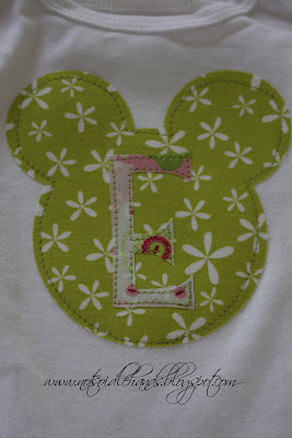 Easy Applique Onesie by NotSoIdleHands.com