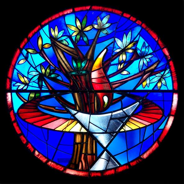 Artspace111 artist eric stevens helps design stained - Stained glass window designs ...