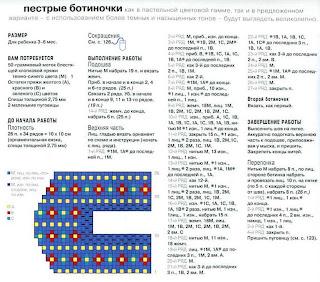 Вязанные пинетки спицами и их схема