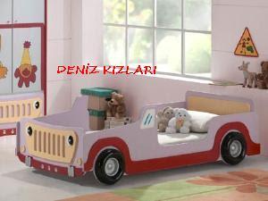 arabalı çocuk yatağı