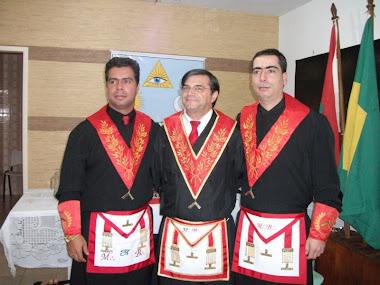 V.´.M.´. Carlos Magno, Ser.´. Dr. Hélio e V.´.M.´. Ir.´. Marcelo