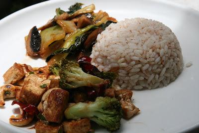 kung pao tofu and broccoli 1 package extra firm tofu