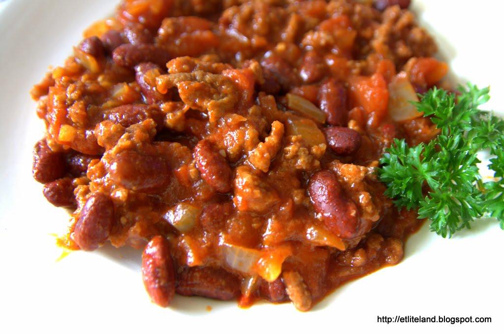 madickens mat: Chili con carne