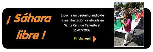 Sáhara libre: accede a un pequeño audio de la manifestación del 11/07/2009 en S/C de Tenerife.