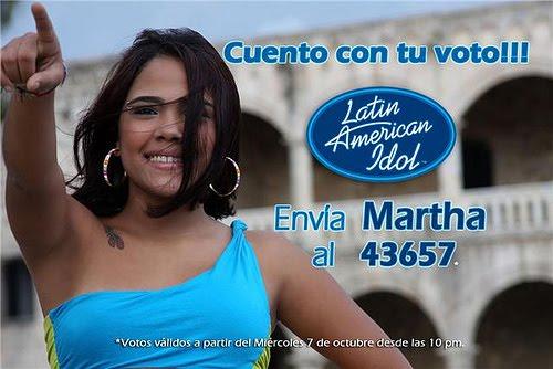 Apoyemos a Martha con nuestros votos en el Latin American Idol