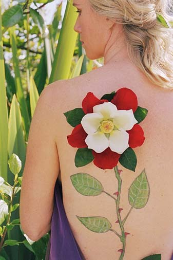Flower tattoo designs are sizable. Depending on your preference,