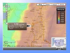 Radiacion solar en Santiago de Cali Colombia