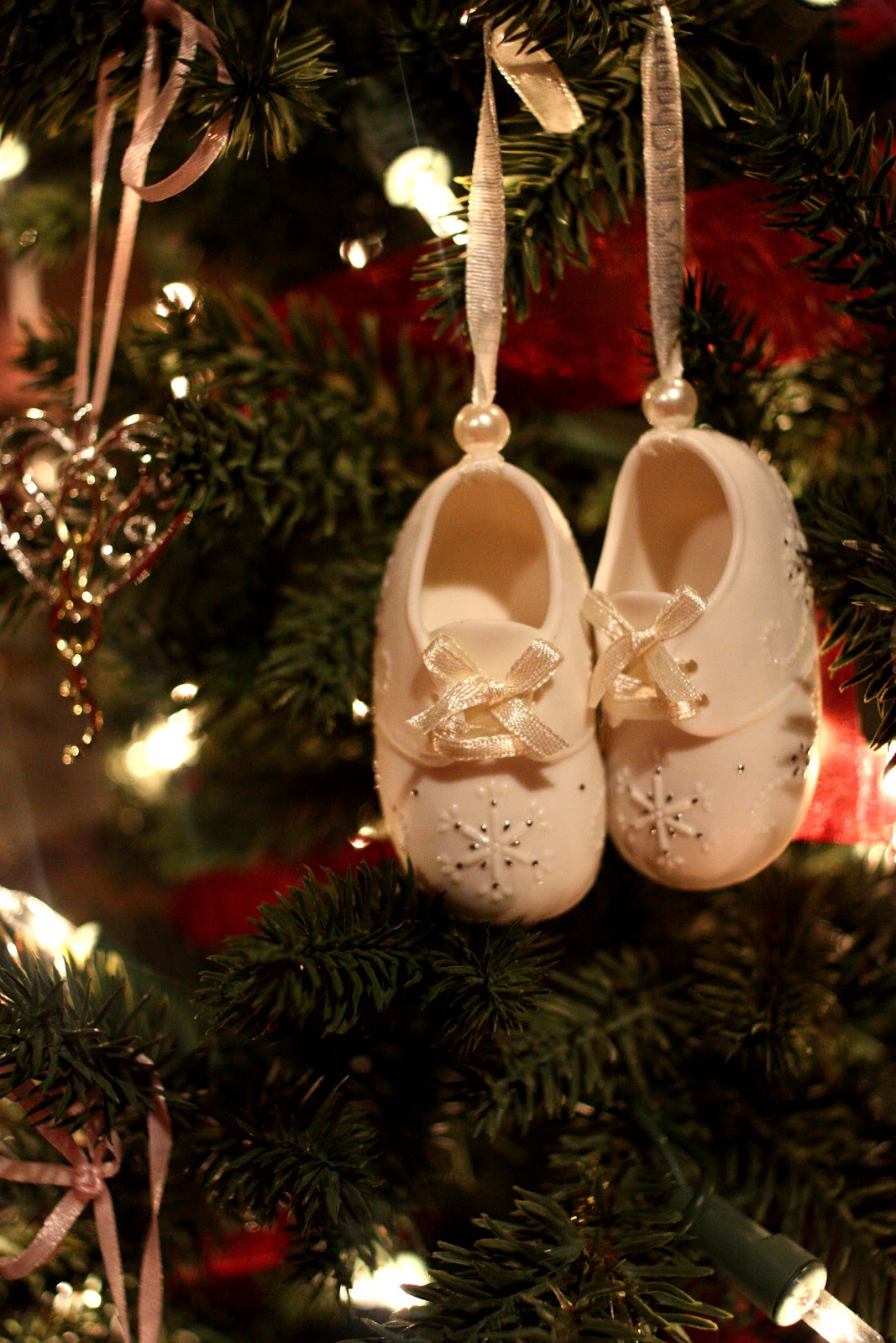 Baby loss ornaments - These Little Porcelain Shoes Were Given To Us By My Parents When We Were Still In The Hospital After Olivia Was Born And Before She Died