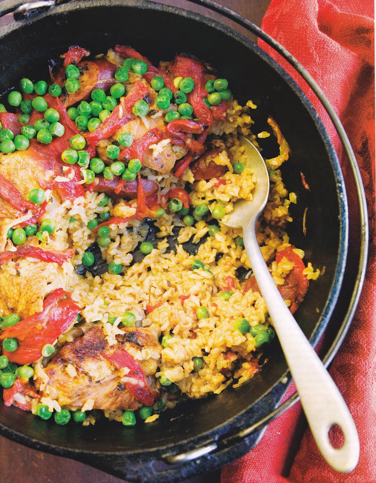 Spanish Rice And Chicken Thighs