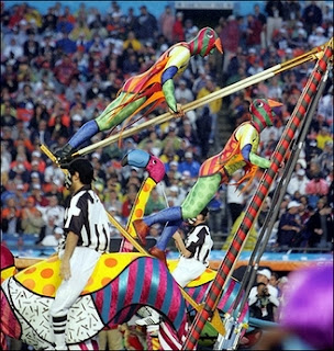 Cirque de Soleil at the Super Bowl