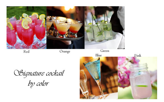Wedding Cocktail by Color
