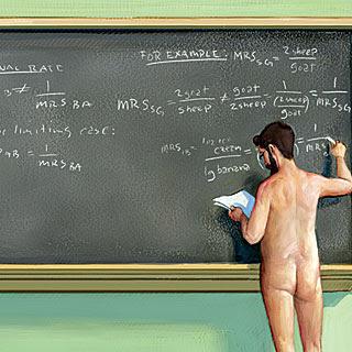 naked in school