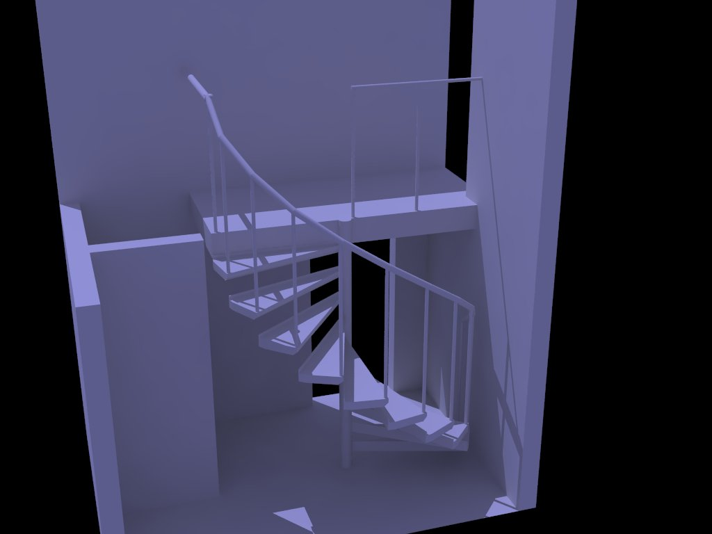 Dise os etc escalera en poco espacio for Escaleras en poco espacio