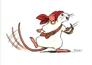Ilustración infantil de una ratona hecha por ªRU-MOR