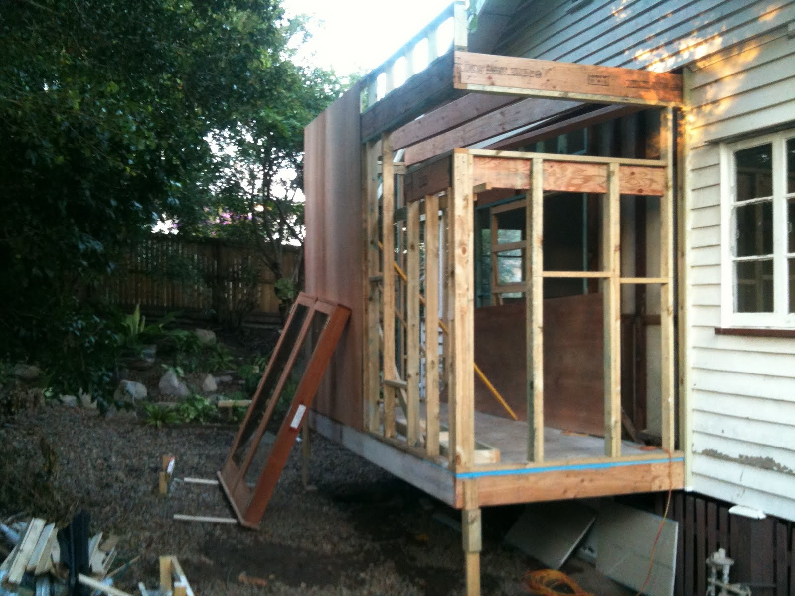 Building A Shed Under An Existing Deck My Woodworking