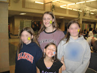 Emily, Lauren and friends at the Family Fun Night