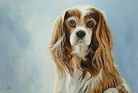 king charles spaniel painting