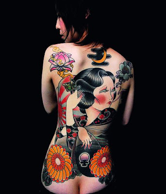 Japanese Body Art - Beautiful Female Bodies