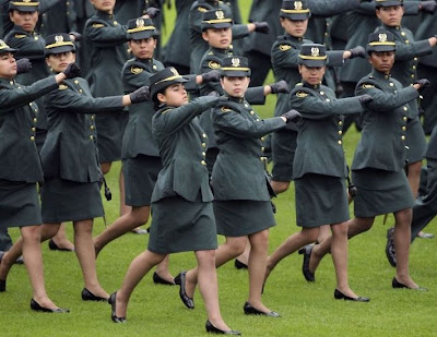 Women Military School in Colombia