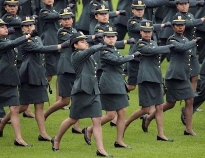 Women Military School in Colombia