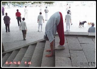 91 years old Flexible grandpa