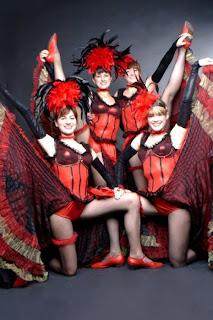 Different cabaret dance costumes