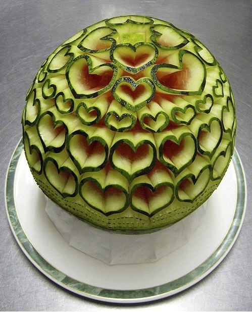 Q riouser watermelon art or food