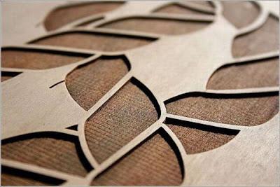Laser wood engraving
