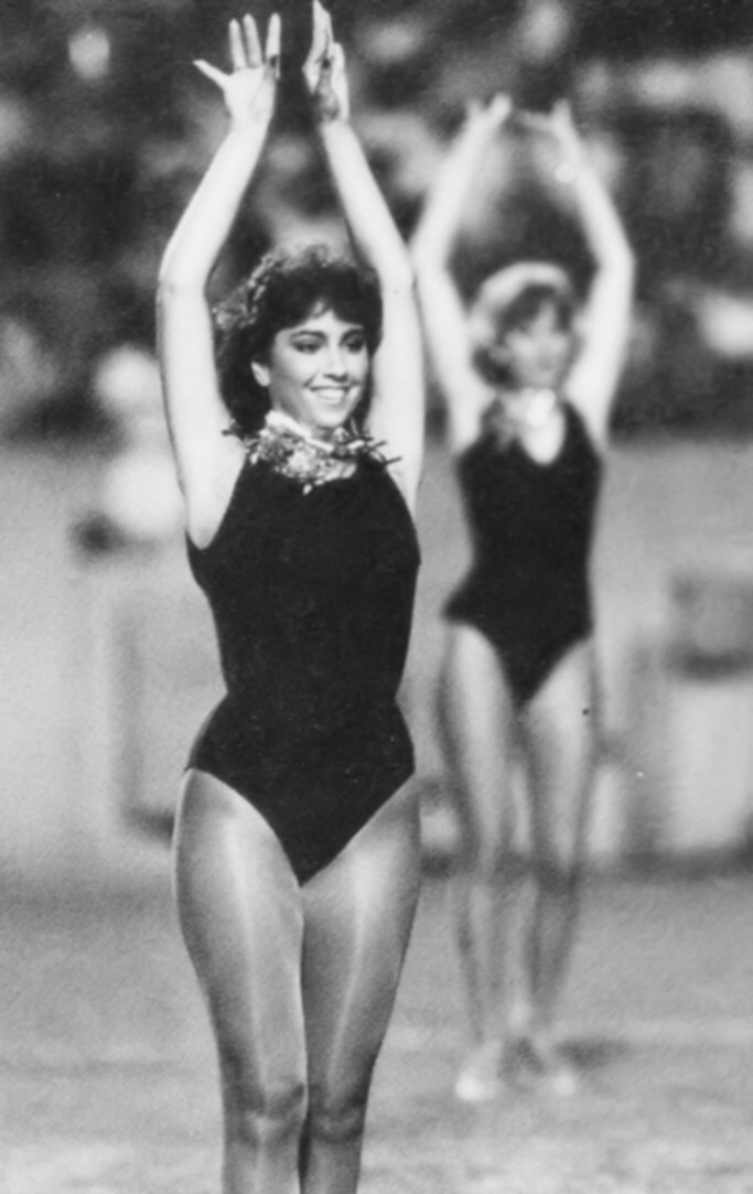 Wowdies' Lana Massaro reaches for the sky in 1984.