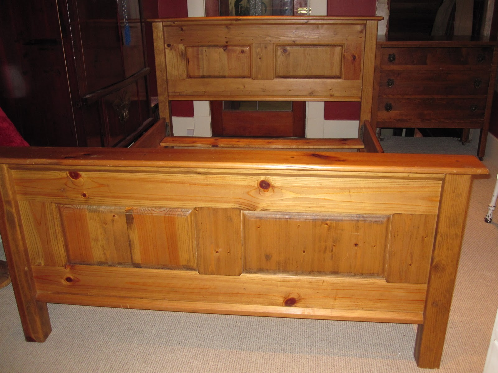 sweet tree furniture farmhouse paneled bed frame
