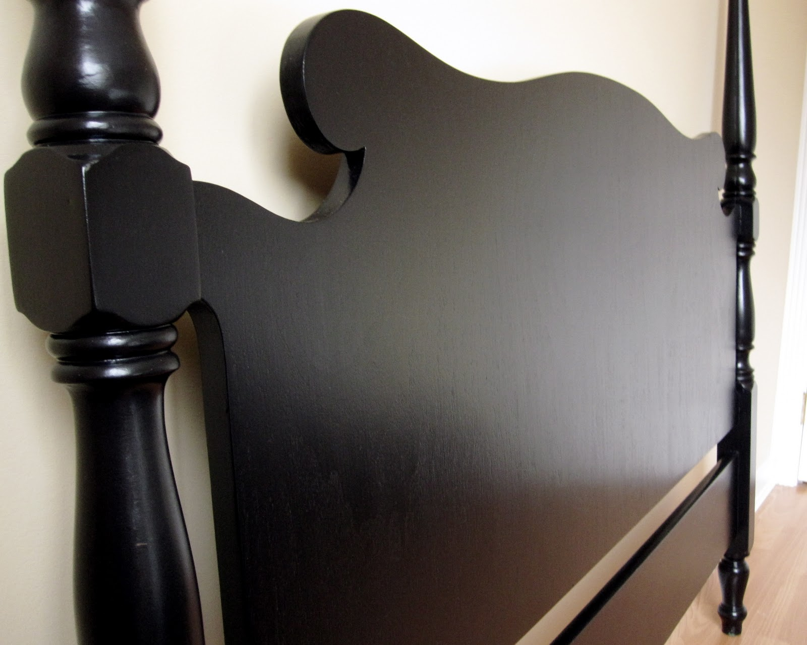 sweet tree furniture: black antique double headboard