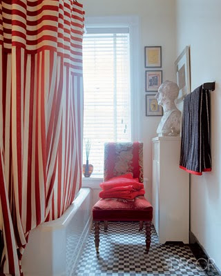 A beautiful space stop it 39 s red for Elle bathroom designs