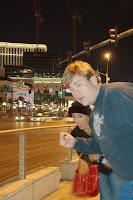 Tirando a maior onda em Las Vegas