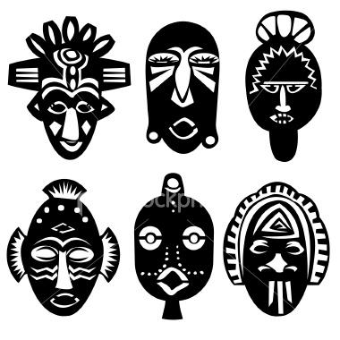 Схемы для изготовления африканских масок.