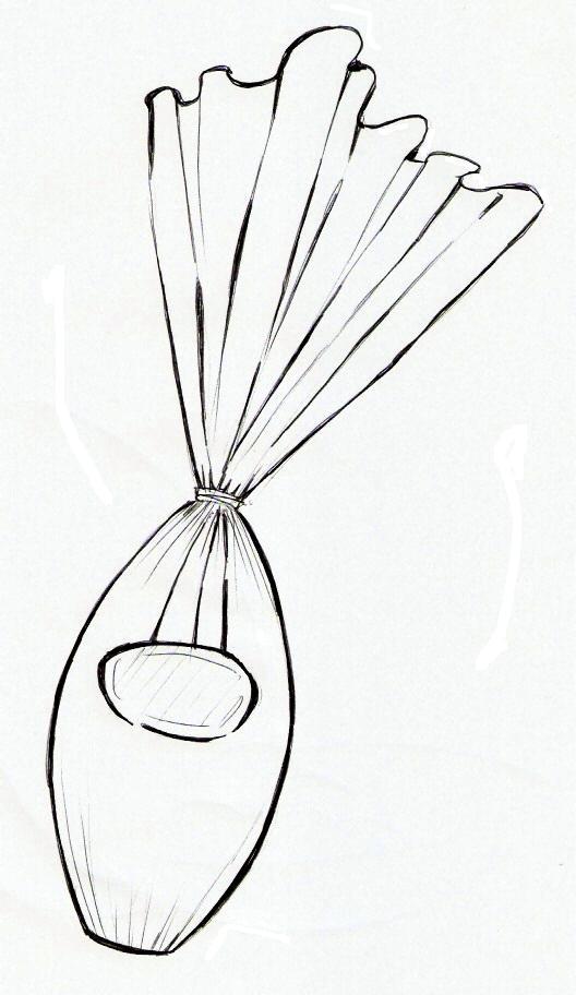 desenho de ovo da páscoa embrulhado para imprimir e colorir