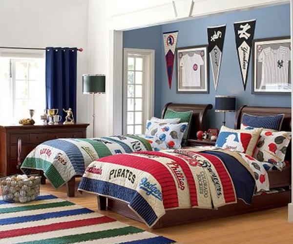 Sports Themed Bedroom Accessories Boy Badroom With Soccer Decorate Design IdeaHOME DESIGNS