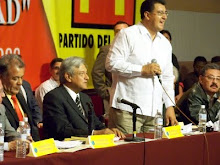 LA COMISION COORDINADORA NACIONAL DEL PT CON ANDRES MANUEL LOPEZ OBRADOR