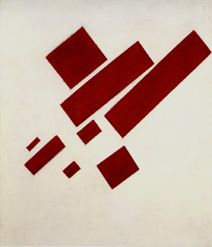 Malevich Suprematist Painting  Red Rectangles