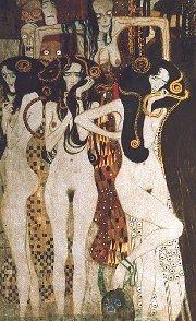 the art daily with Lydia: Gustav Klimt, Beethoven Frieze (1902)