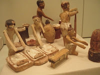 Egipcios en la cocina. Museo de Toronto. Canada.