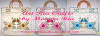 Flower Embroidery Handbag by Monica Ria