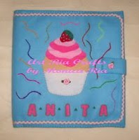 Strawberry Cup Cake File Cover 4 Anita by Monica Ria