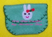 Riby Rabbit Mini Damar Goody Bag With Flower - Art Ria Crafts by Monica Ria