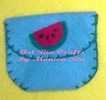 Watermelon Mini Wallet - Art Ria Crafts by Monica Ria