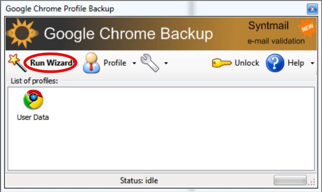 Как сделать бэкап гугле хром