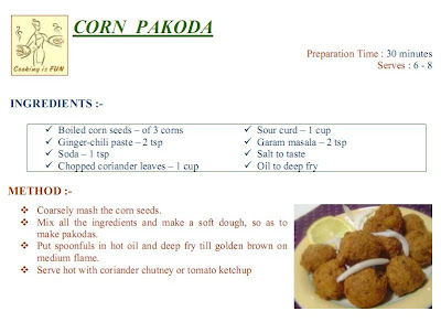 corn pakoda